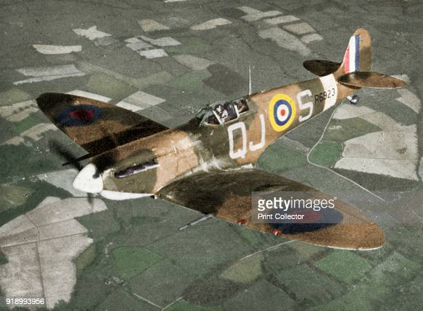 A Spitfire Mark VB fighter of No 92 Squadron RAF in flight 19th May 1941 The aircraft was based at Biggin Hill Kent And was later shot down by a...