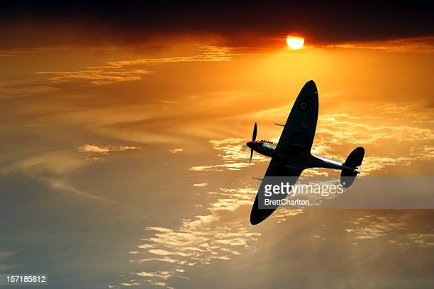 spitfire patrol - british military stock pictures, royalty-free photos & images