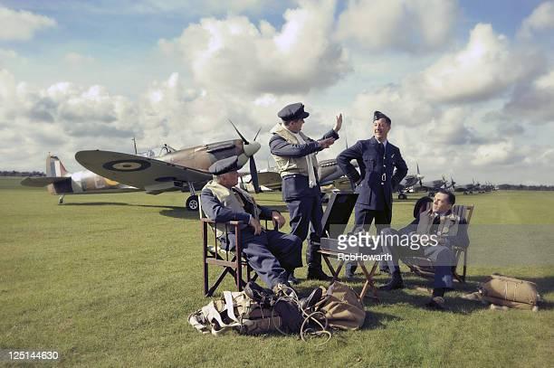 spitfire pilotos - spitfire - fotografias e filmes do acervo