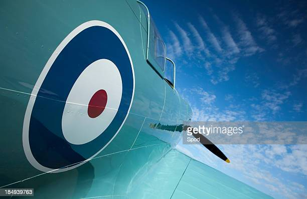 spitfire type 300 prototype - spitfire stock pictures, royalty-free photos & images