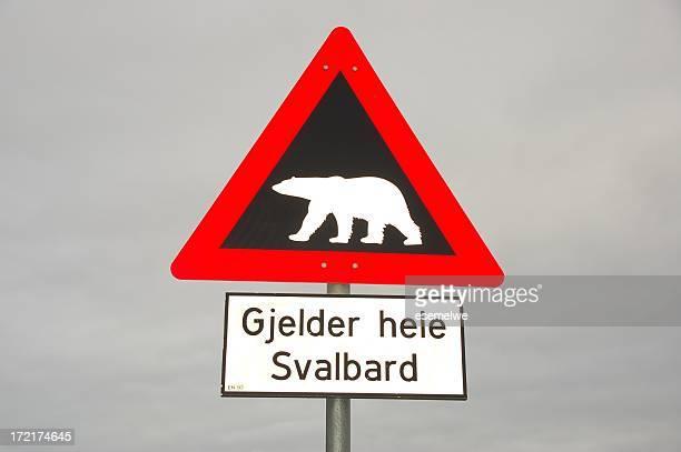 Spitsbergen – traffic sign