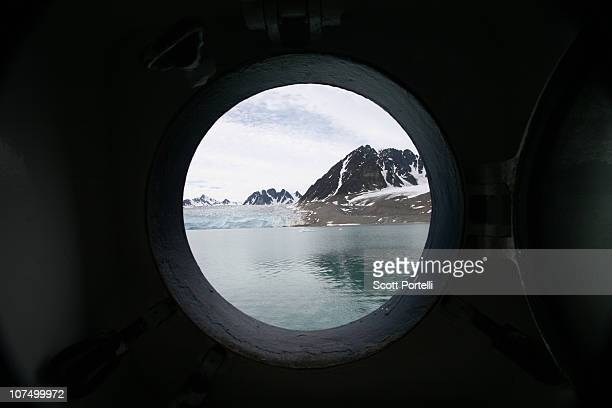 spitsbergen - porthole stock photos and pictures