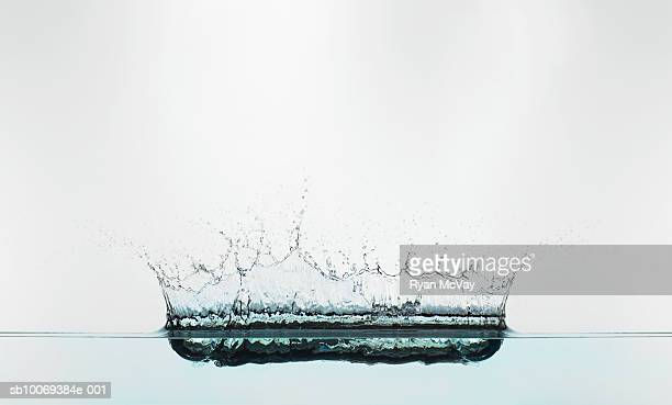 Splash crown in water, studio shot