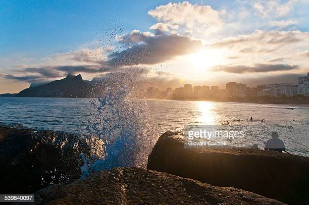 Splash in the sunset, Rio