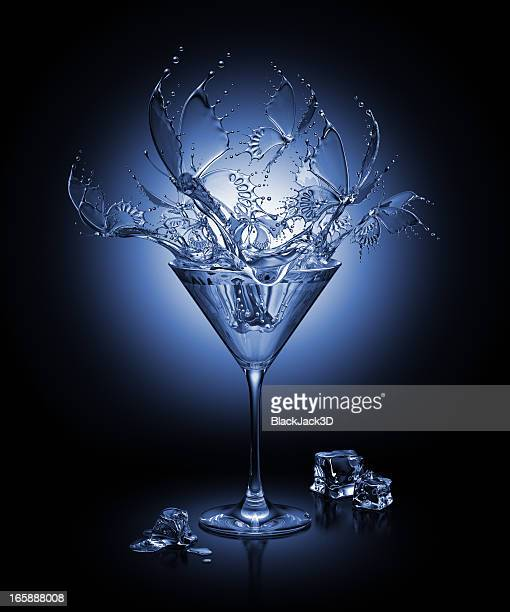 Splash Of Butterflies In The Cocktail