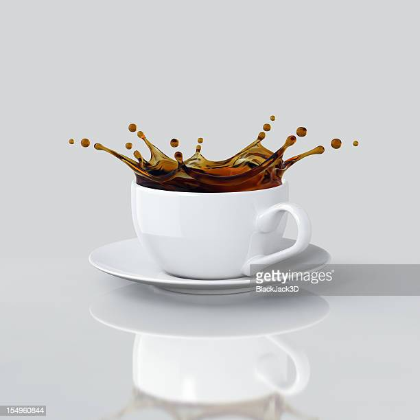 Splash Kaffee In der Cup