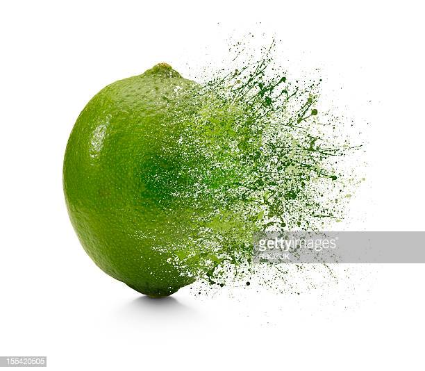 splash of lime - exploding stock pictures, royalty-free photos & images
