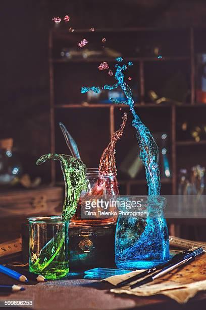 Splash of primary colors