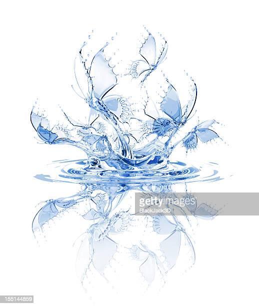 Splash Of Water Butterflies