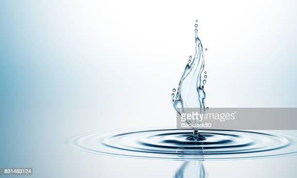 「スプラッシュ」の水の葉