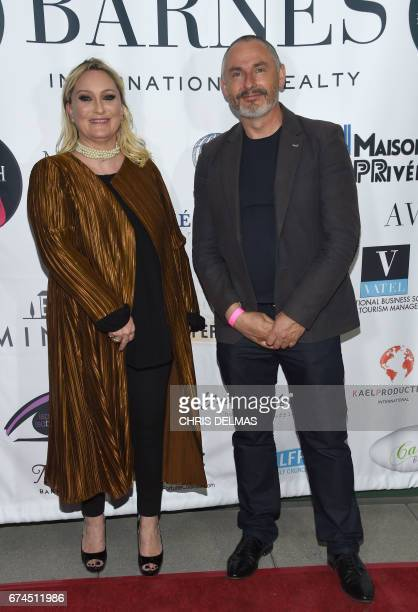 Splash PR CEO Claire ArnaudAubour and Colcoa executive Producer And Artistic Director Francois Truffart attend the Barnes Los Angeles afterparty at...