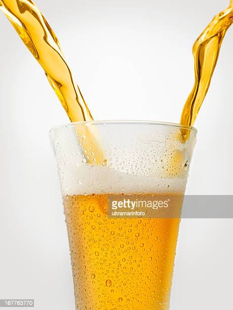 Splashing - Beer pour in glass