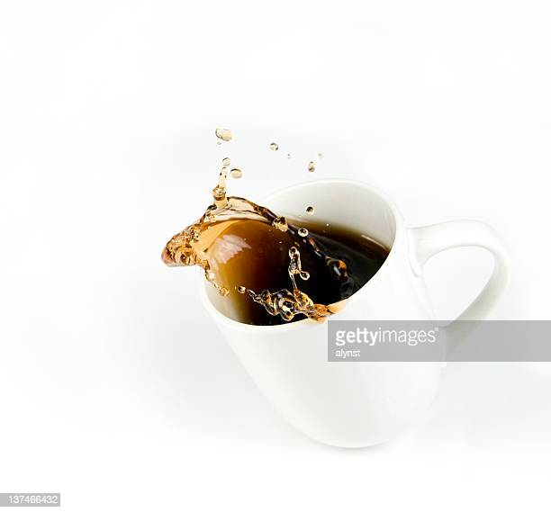 Splashing Cup of Coffee with Copy Space