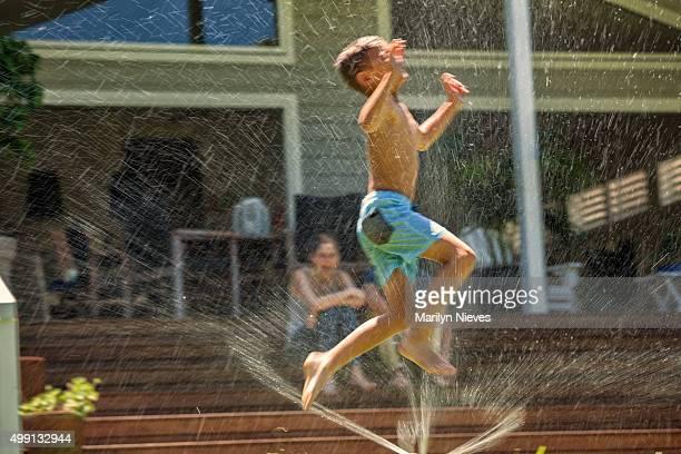 splashing in joy