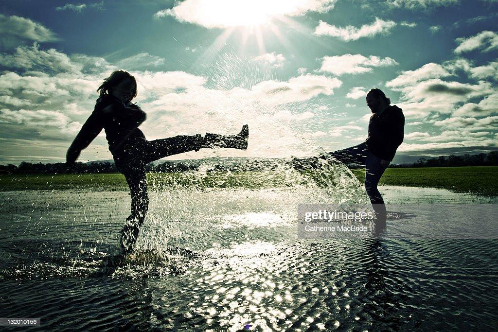 Splashing Out : Stock Photo