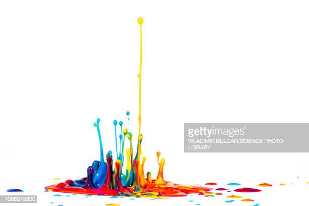 splashing paint - splattered stock pictures, royalty-free photos & images