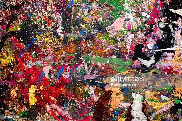 Splattered Canvas Background or Texture