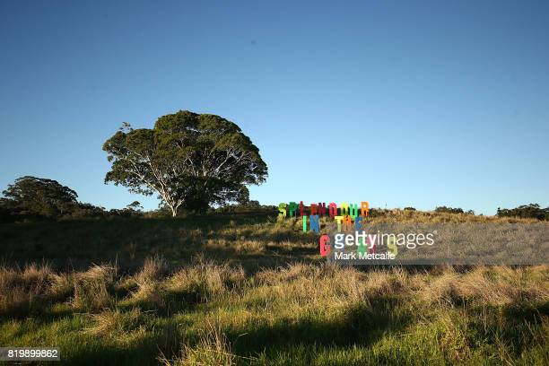 Splendour In The Grass sign is seen during Splendour in the Grass 2017 on July 21 2017 in Byron Bay Australia