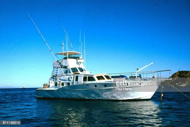 Splendour, the boat owned by Robert Wagner, docked off Catalina Island the day after Natalie Wood drowned November 29 Catalina Island, California