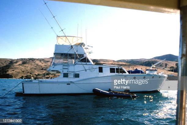Splendour, the boat owned by Robert Wagner, docked off Two Harbors , Catalina Island the day after the body of Hollywood legend Natalie Wood was...