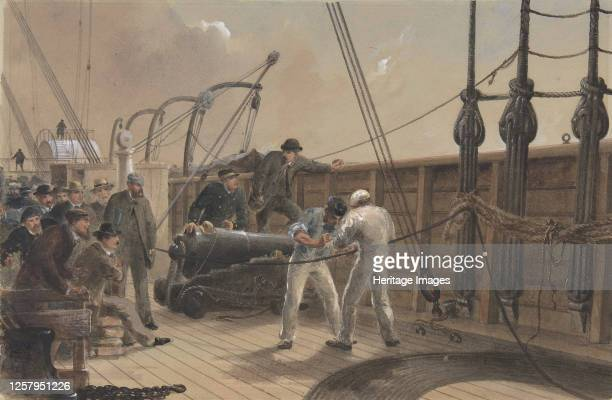 Splicing the Cable on Board the Great Eastern, July 25th 1865-66. Artist Robert Charles Dudley.