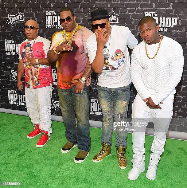 Spliff Star and Busta Rhymes attend The BET Hip Hop awards at Boisfeuillet Jones Atlanta Civic Center on September 20 2014 in Atlanta Georgia