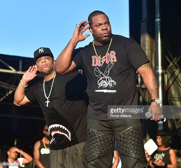 Spliff Star and Busta Rhymes attends the 2016 One MusicFest at Lakewood Amphitheatre on September 10 2016 in Atlanta Georgia
