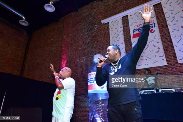 Spliff Star and Busta Rhymes perform at Crystal Pepsi Throwback Tour with Busta Rhymes at Billy's Sports Bar on August 1 2017 in Bronx City