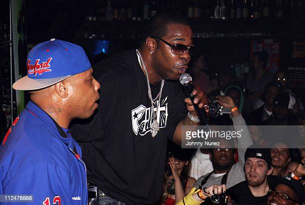 Spliff Star and Busta Rhymes perform at Santos Party House on May 18 2009 in New York City