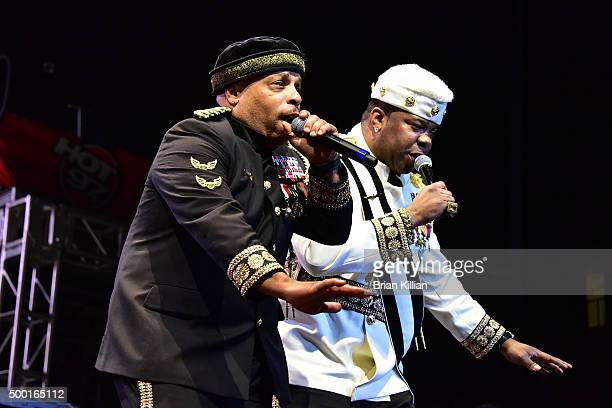 Spliff Star and Busta Rhymes perform at The Conglomerate And Hot 97 Present Busta Rhymes And Friends Hot For The Holiday show at Prudential Center on...