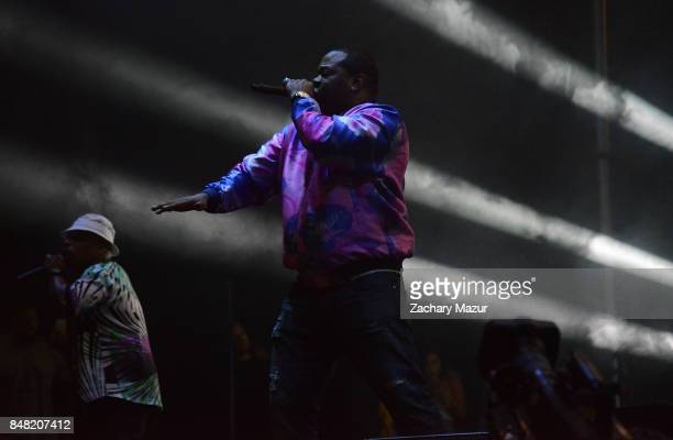 Spliff Star and Busta Rhymes performs onstage during day 2 of The Meadows Music Arts Festival at Citi Field on September 16 2017 in New York City