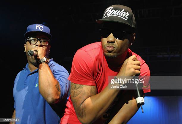 Spliff Star and JDoe perform during the 2012 Ad Week Opening Night Concert at the Best Buy Theater on October 1 2012 in New York City