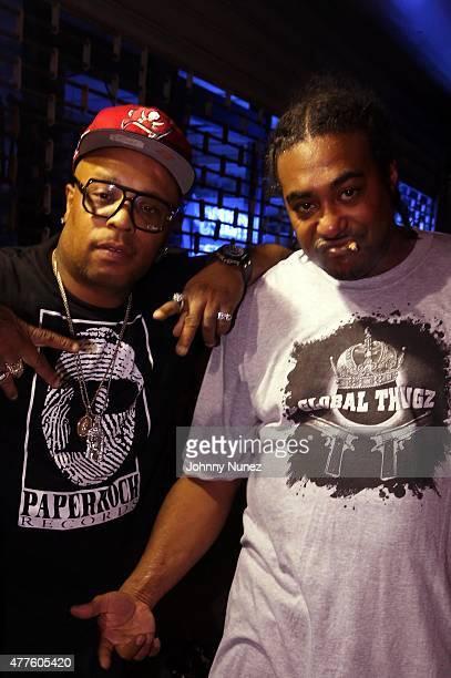 Spliff Star and KELO AKA GRAMZUNKUT attend Club Pyramid on June 17 in New York City