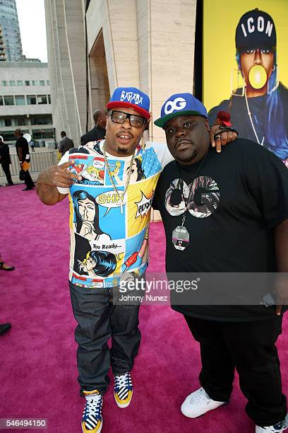 Spliff Star and Shaheem Reid attend 2016 VH1 Hip Hop Honors All Hail The Queens at David Geffen Hall on July 11 2016 in New York City