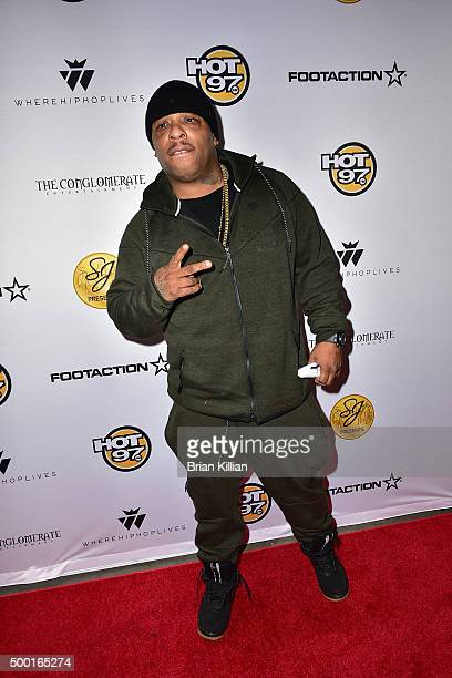Spliff Star attends The Conglomerate And Hot 97 Present 'Busta Rhymes And Friends Hot For The Holiday' Arrivals at Prudential Center on December 5...