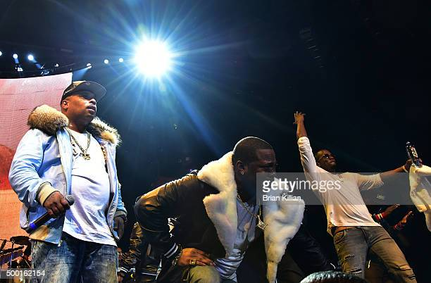 Spliff Star Busta Rhymes and Sean Diddy Combs perform at The Conglomerate And Hot 97 Present Busta Rhymes And Friends Hot For The Holiday show at...