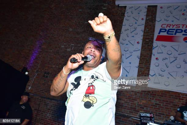 Spliff Star performs at Crystal Pepsi Throwback Tour with Busta Rhymes at Billy's Sports Bar on August 1 2017 in Bronx City