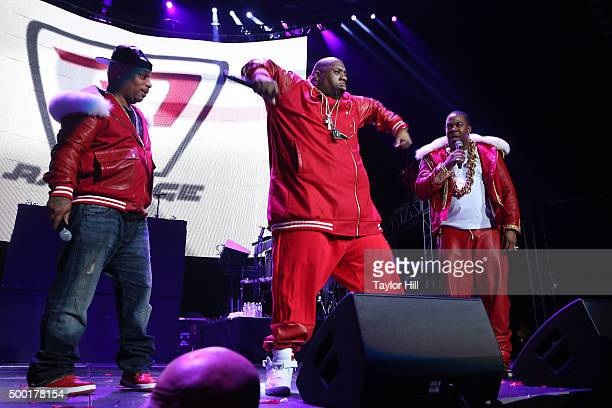 Spliff Star Rampage and Busta Rhymes performs during Hot 97's 'Busta Rhymes and Friends Hot for the Holidays' at Prudential Center on December 5 2015...
