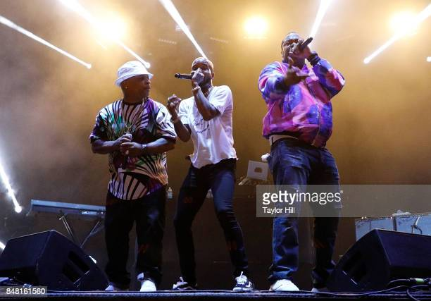 Spliff Star Tory Lanez and Busta Rhymes perform onstage during Day 2 at The Meadows Music Arts Festival at Citi Field on September 16 2017 in New...