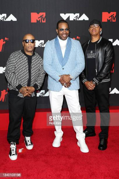 Spliff Starr, Busta Rhymes, and guest attend the 2021 MTV Video Music Awards at Barclays Center on September 12, 2021 in the Brooklyn borough of New...