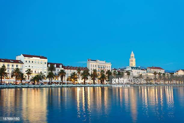 Split, Croatie, de nuit