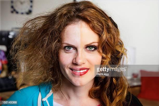 Split Faced Woman