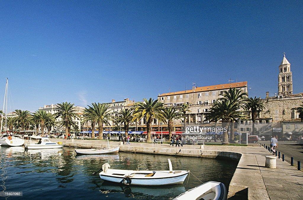 Split harbour : Stock Photo