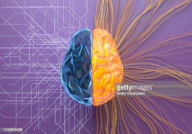 split net/turbulence artificial brain - smart stock pictures, royalty-free photos & images
