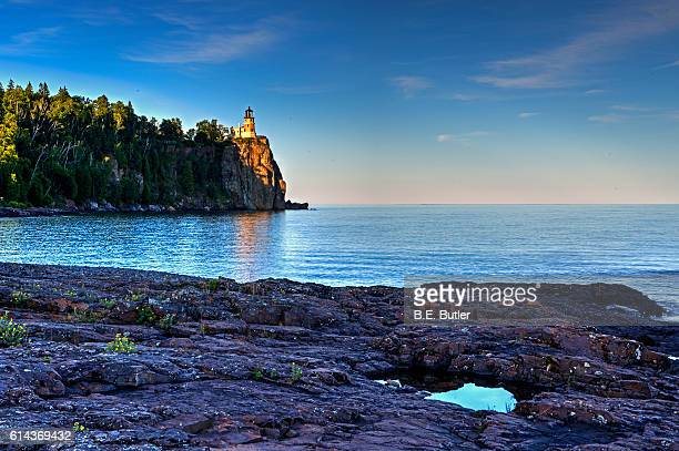 split rock lighthouse - lake superior provincial park stock pictures, royalty-free photos & images