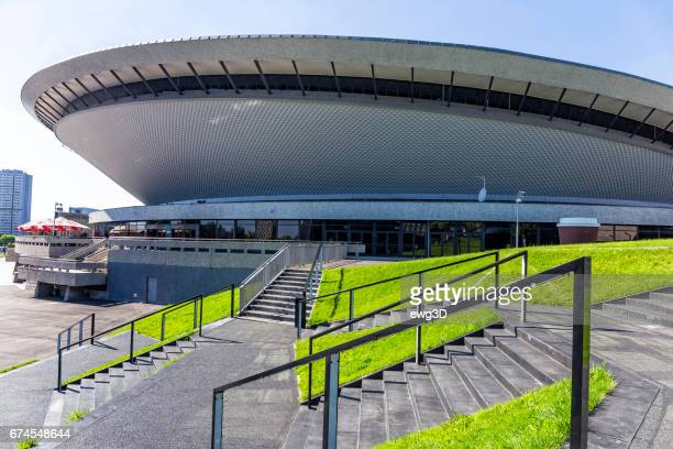 spodek sports and entertainment building in katowice, poland - silesia stock pictures, royalty-free photos & images