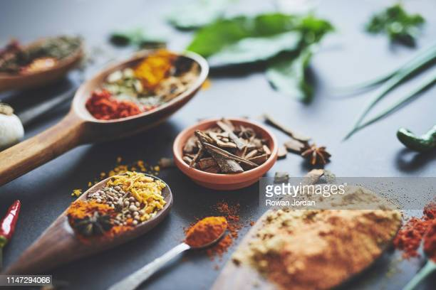 spoil your tastebuds with our wonderful range of spices - spice stock pictures, royalty-free photos & images