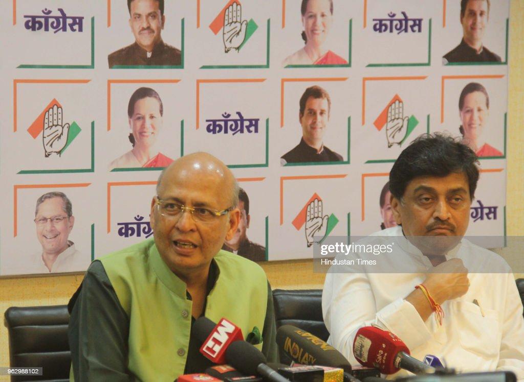 Press Conference Of Congress Senior Leader Abhishek Manu Singhvi In Mumbai