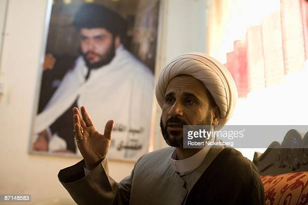 Spokesman for Moktada alSadr's office Salman alFaraiji responds to a question regarding current relations with the Iraqi government in Sadr City May...