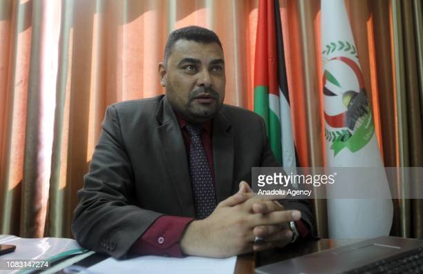 Spokesman of the Ministry of Health in Gaza Ashraf al Qudra speaks to the press in Gaza City Gaza on January 15 2019 Gaza hospitals to stop services...